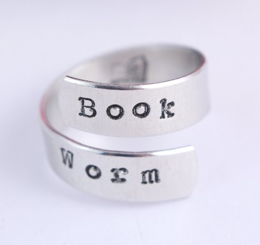 Book Worm Wrap Ring