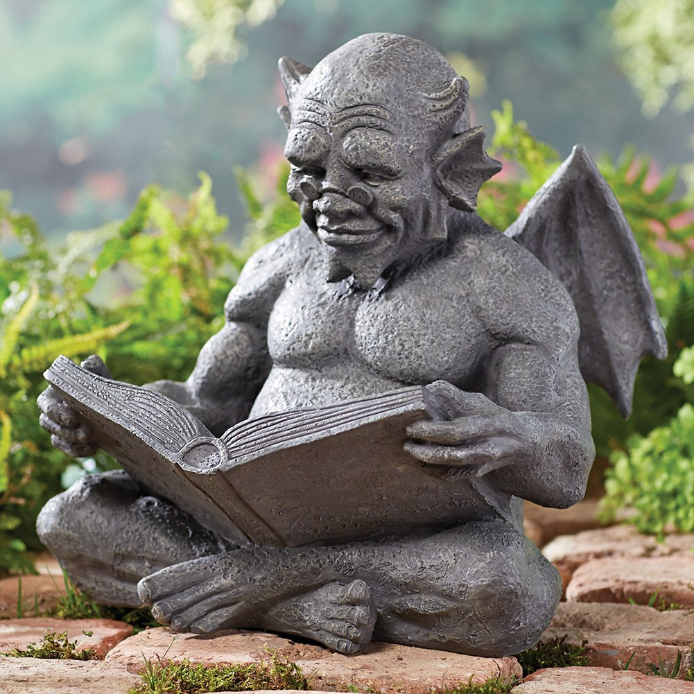 Reading Gargoyle Graden Sculpture